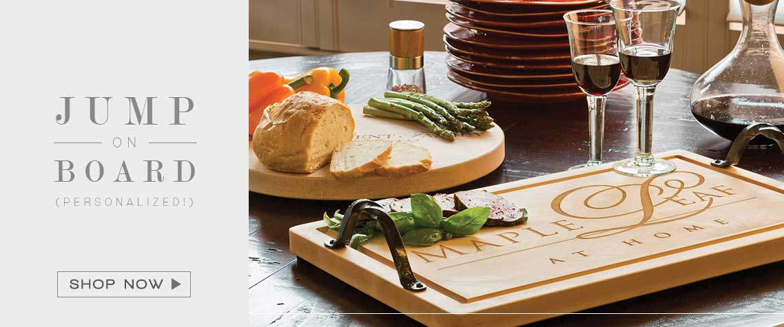 Maple Leaf Cutting Board | Personalized Kitchen Accessories
