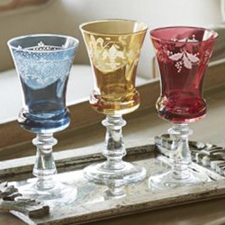 Shop Arte Italica Colored Glass At Peace, Love & Decorating. FREE SHIPPING on All Orders!