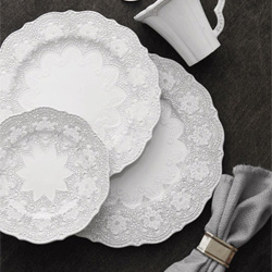 Shop Arte Italica Merletto White Dinnerware At Peace, Love & Decorating. FREE SHIPPING on All Orders!