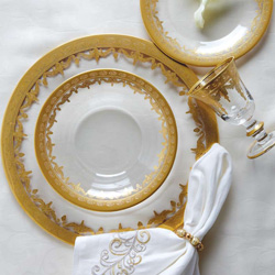 Shop Arte Italica Vetro Gold & Silver Dinnerware At Peace, Love & Decorating. FREE SHIPPING on All Orders!