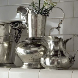 Shop Arte Italica Vintage Pewter At Peace, Love & Decorating. FREE SHIPPING on All Orders!