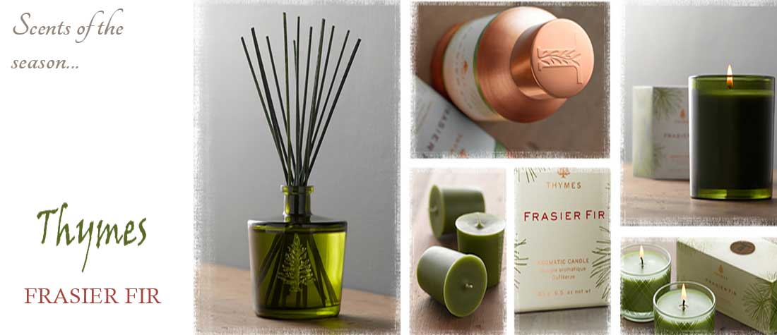 Thymes Holiday Candles and Home Fragrances