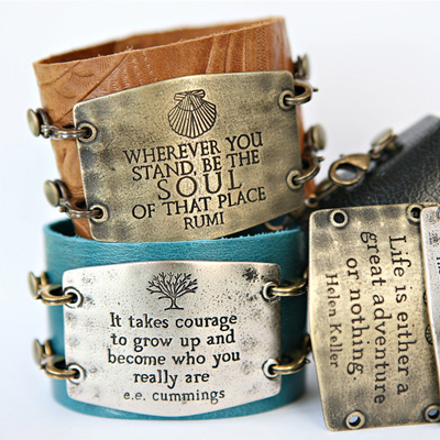 leather bracelets with inspirational sayings beautiful
