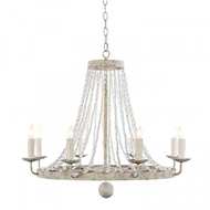 Aidan Gray Lighting Small Naples Chandelier In White L430S CHAN WHT