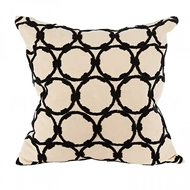 Aidan Gray Home Accessories Circles Pillow P20 CIR CBLK