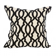 Aidan Gray Home Accessories Ripples Pillow P20 RIP CBLK