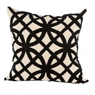 Aidan Gray Home Accessories Trellis Pillow P20 TRE CBLK