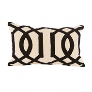 Aidan Gray Home Accessories Crown Pillow PL12 NEKO CBLK