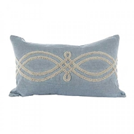 Aidan Gray Home Accessories Mod Clover Pillow PL12 RIB BG