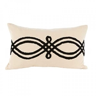 Aidan Gray Home Accessories Mod Clover Pillow PL12 RIB CBLK