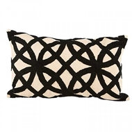 Aidan Gray Home Accessories Trellis Pillow PL12 TRE CBLK