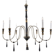 Aidan Gray Lighting Empire Chandelier Small L645S CHAN BLK