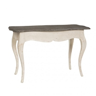 Aidan Gray Home Levi Accent Table in Distressed White Aidan Gray