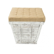 Aidan Gray Home Square Storage Crate in White Aidan Gray