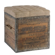 Aidan Gray Home The Sac de Moulin Wooden Storage Cube Aidan Gray