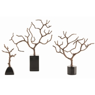 Arteriors Home Accessories Banyan Sculpture With Copper Finish In Brown