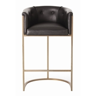 Arteriors Home Furnishings Calvin Bar Stool With Black Finish In Black