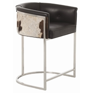 AArteriors Home Furnishings Calvin Low Bar Stool With Black Finish In Black