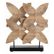 Arteriors Home Accessories Ella Sculpture With Natural Wax Finish In Brown