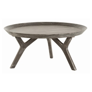 Arteriors Home Furnishings Emmett Cocktail Table With Washed Gray Finish In Gray