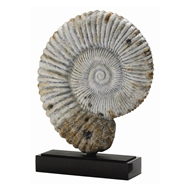 Arteriors Home Accessories Fossil Sculpture With Gray Finish In Gray