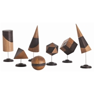 Arteriors Home Accessories Geo Sculpture With Walnut Finish In Brown