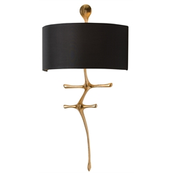 Arteriors Lighting Gilbert Wall Sconce With Gold Leaf Finish in Yellow