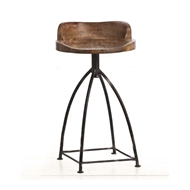 Arteriors Home Furnishings Henson Counter Stool With Sandblast Antique Wax Finish In Brown