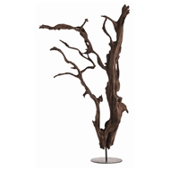Arteriors Home Accessories Kazu Floor Sculpture With Driftwood Finish Finish In Brown