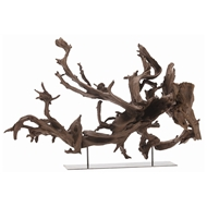 Arteriors Home Accessories Kazu Large Sculpture With Natural Finish In Brown