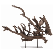 Arteriors Home Accessories Kazu Small Sculpture With Natural Finish In Brown