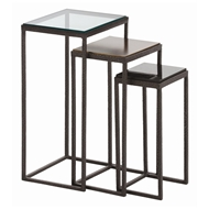 Arteriors Home Furnishings Knight Small Accent Tables With Dark Natural Iron Finish In Gray