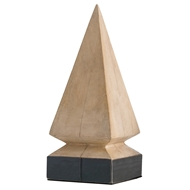 Arteriors Home Accessories Melbourne Large Sculpture With Natural White Wash Finish In Brown