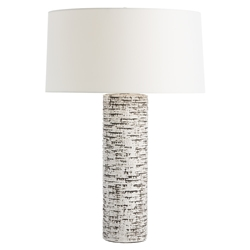 Arteriors Lighting Nico Ivory Table Lamp With Charcoal Wash Finish In Black