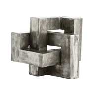 Arteriors Home Accessories Nyla Sculpture With Antiqued Aluminum Finish In Gray