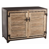 Arteriors Home Accessories Paris Shutter Cabinet With Distressed Finish In Brown