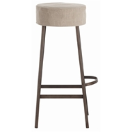 Arteriors Home Furnishings Rochefort Bar Stool With Natural Iron Finish In Gray