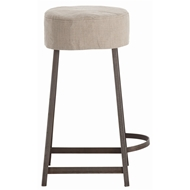 Arteriors Home Furnishings Rochefort Counter Stool With Natural Iron Finish In Gray