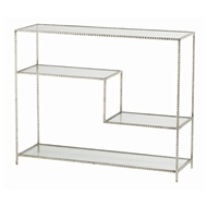Arteriors Home Furnishings Worchester Console With Silver Leaf Finish In Gray