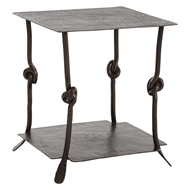 Arteriors Home Arnot End Table 2526 Gray - Iron