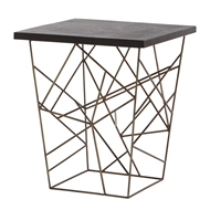 Arteriors Home Liev Side Table 6021 Yellow - Iron