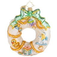 Christoper Radko A wintery Welcome Baby Christmas Ornament