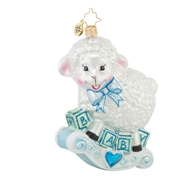 Christopher Radko Baa Baa Baby Baby Boy Christmas Ornament