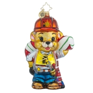Christopher Radko Bearing The Work Teddy Bear Construction Bsby Ornament