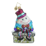Christopher Radko Before The Big Fall Nursery Rhyme Baby Ornament