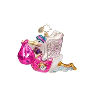Radko Bundle of Joy Girl Baby Ornament 2015