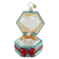 Christopher Radko 2016 Happily Ever After Engagement & Wedding Ornament