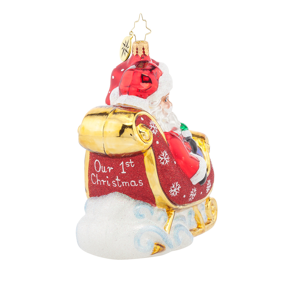 Christopher radko ornaments -  Christopher Radko 2016 Our First Christmas Lets Go For A Ride Darling Ornament