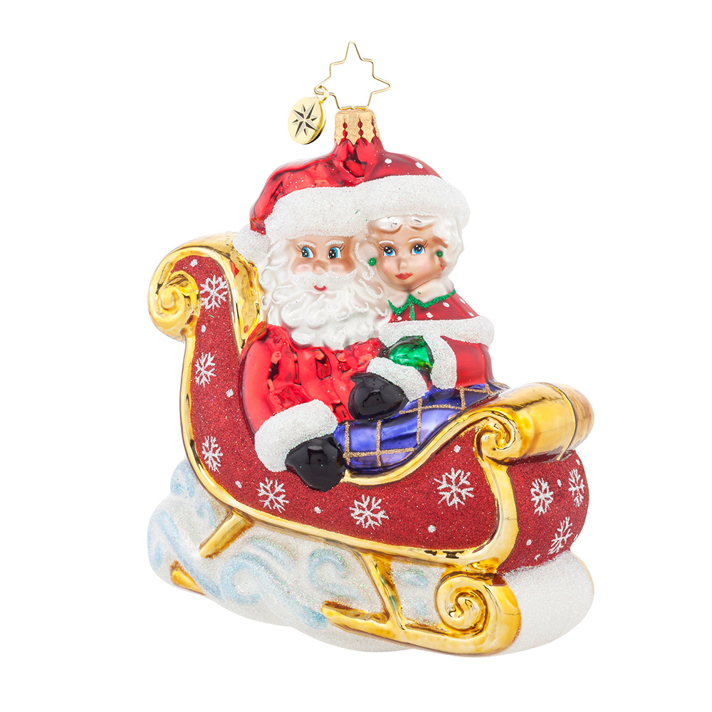 First wedding ornament - Christopher Radko 2016 Lets Go For A Ride Darling First Christmas Ornament