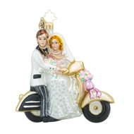 Christopher Radko Scoot Along To Happiness 2016 Bridal & Wedding Ornament